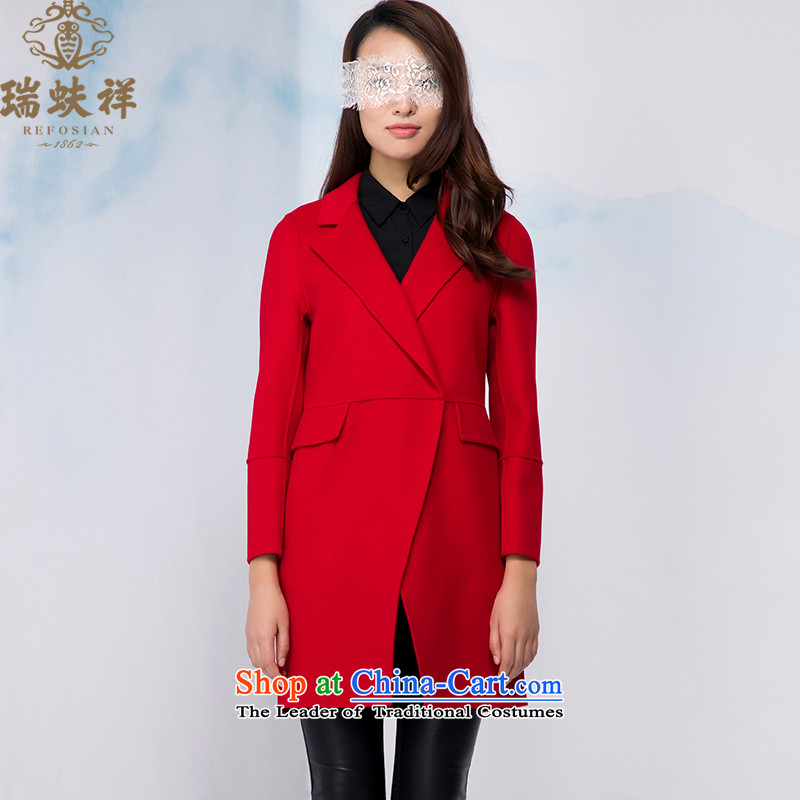 Therefore, 2015 winter new Cheung wool long coats wild woolen coat stylish and elegant red jacket 175_96A gross?