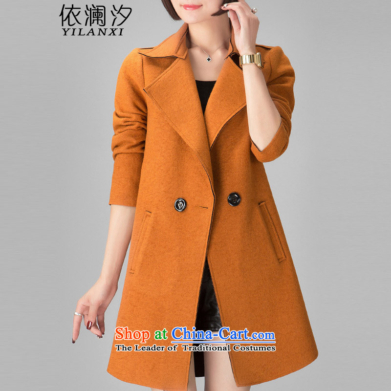 In accordance with the world gross Hsichih girls jacket? Long�15 autumn and winter new Korean Sau San a wool coat double-Women's jacket and 748 Color燲L