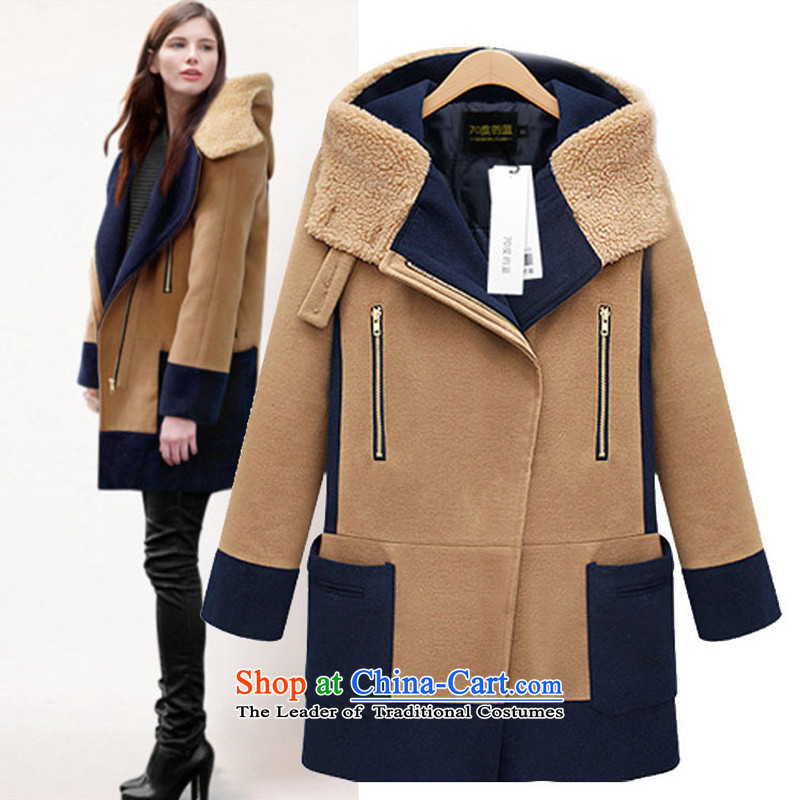 ?Thick mm to feelnet xl women Fall_Winter Collections with cap thin cotton clothing Europe video cap for larger gross??Q18?and color?5XL jacket code