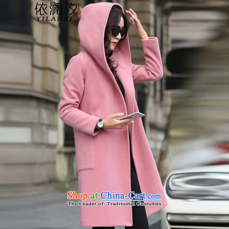 In accordance with the world gross Hsichih? jacket women 2015 Fall_Winter Collections new Korean in Sau San long thick large flows of a wool coat 007 pink M