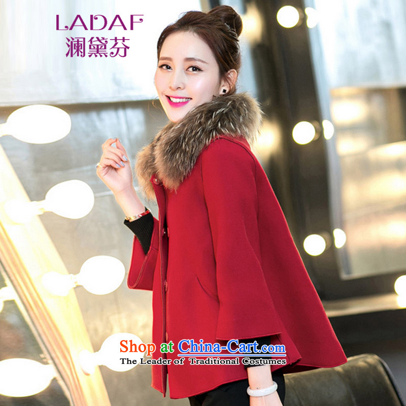 The World 2015 autumn and winter fun Doi new small Heung-thick cloak short of a jacket 738 shawl redS