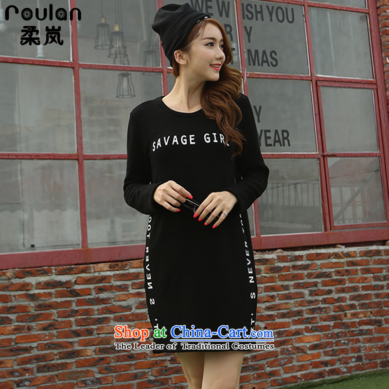 Sophie included the lint-free thick sweater cheongsams larger women 2015 Autumn and Winter Female to intensify the thick mm thin in the video long forming the Women 1350 Black 5XL shirt
