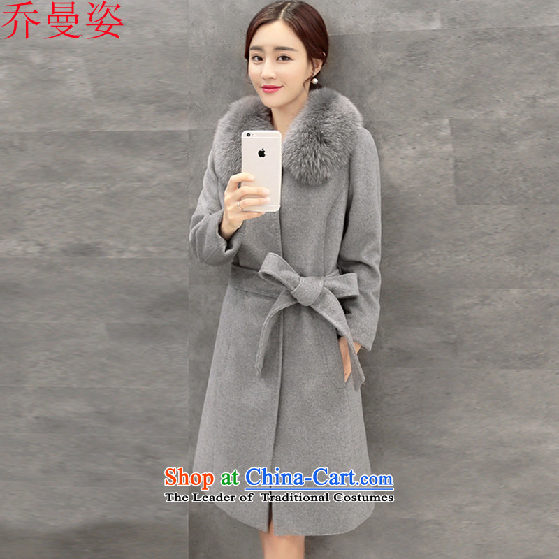 Joe Cayman Gigi Lai winter clothing a wool coat jacket in gross? Long Nagymaros tether 9339 Sau San for gray燤