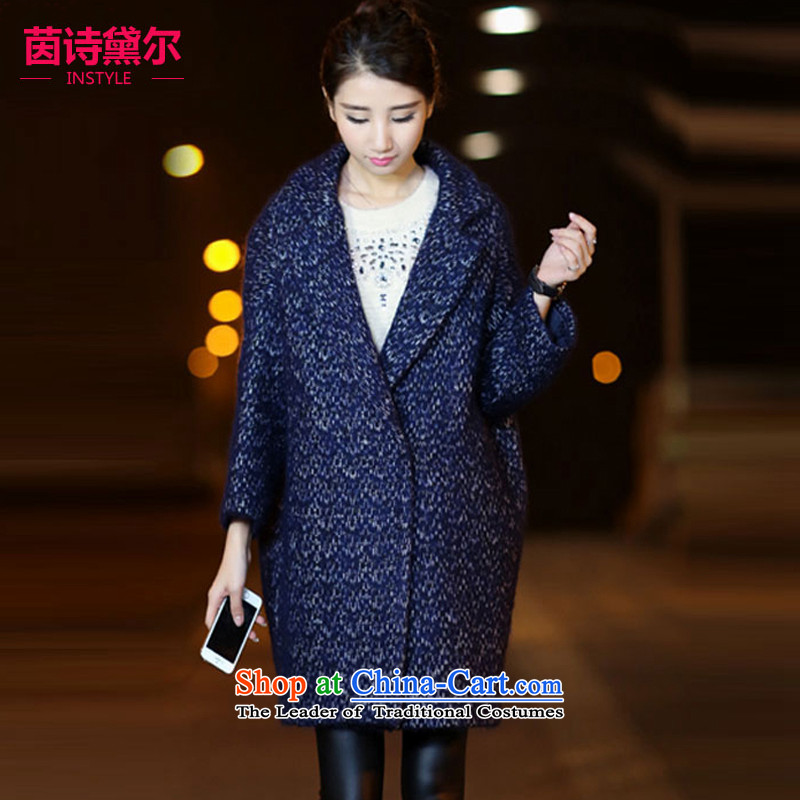 Athena Chu poetry, gross? 2015 autumn and winter coats the new Korean version of Sau San over the medium to longer term gross coats female double row will clip the Jacket Color Photo 3010L