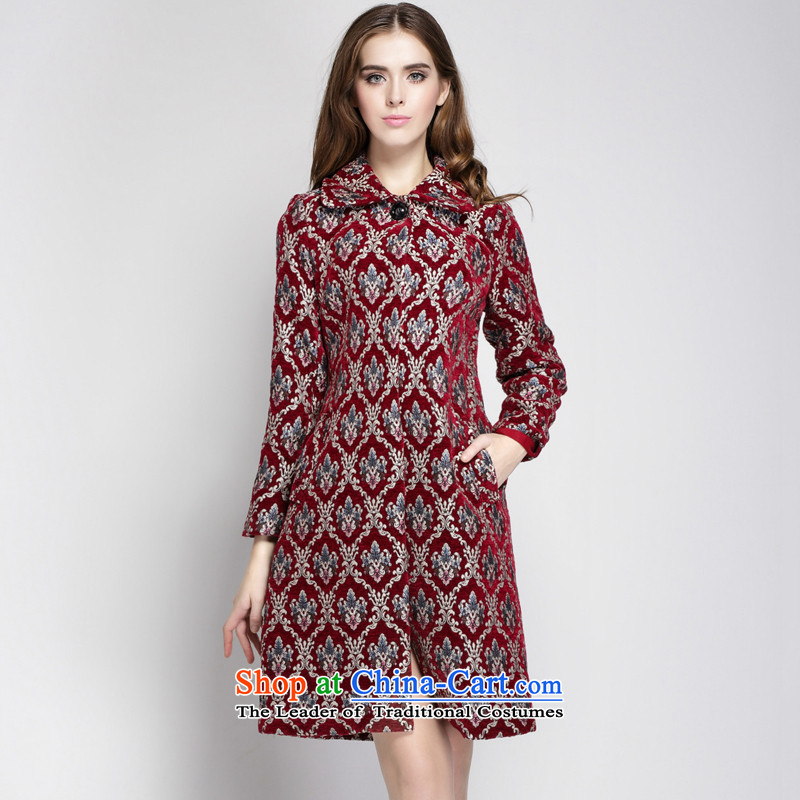 Consideration of autumn and winter 2015 Elizabeth dyed jacquard knocked colors color pictures? coats 15305 L