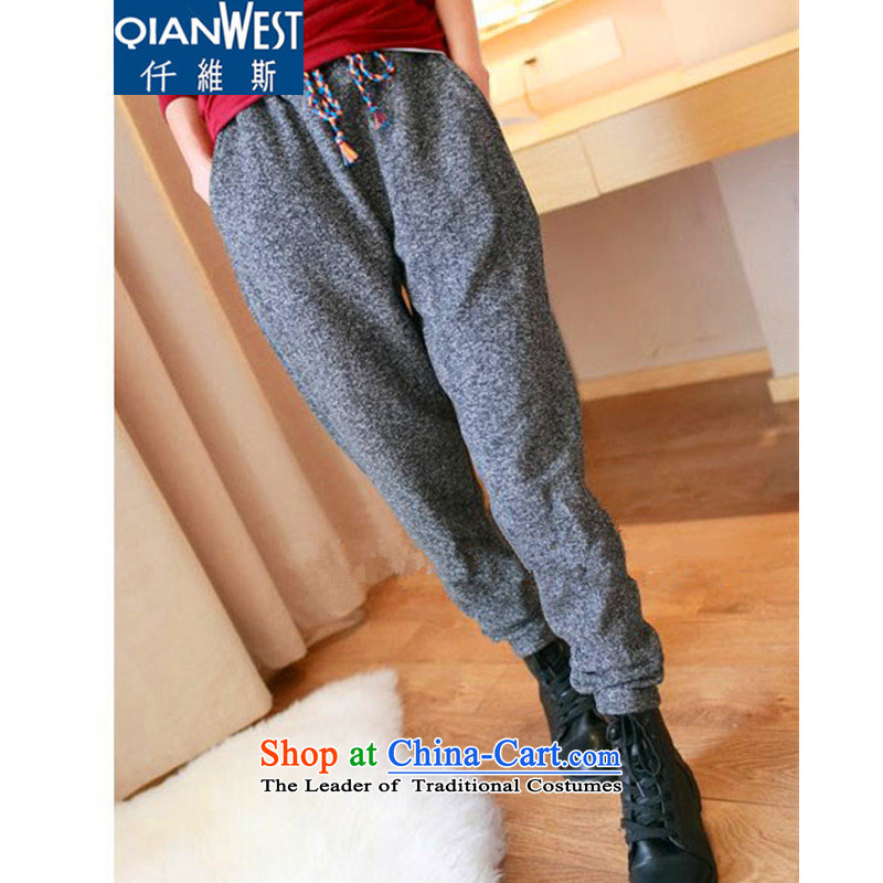 The Scarlet Letter, larger female plus extra thick wool pant 2015 Winter_ thick mm to increase women's code Harlan thin graphics loose trousers trousers 109 plus extra thick�L snowflake lint-free�0-210 recommended weight catty