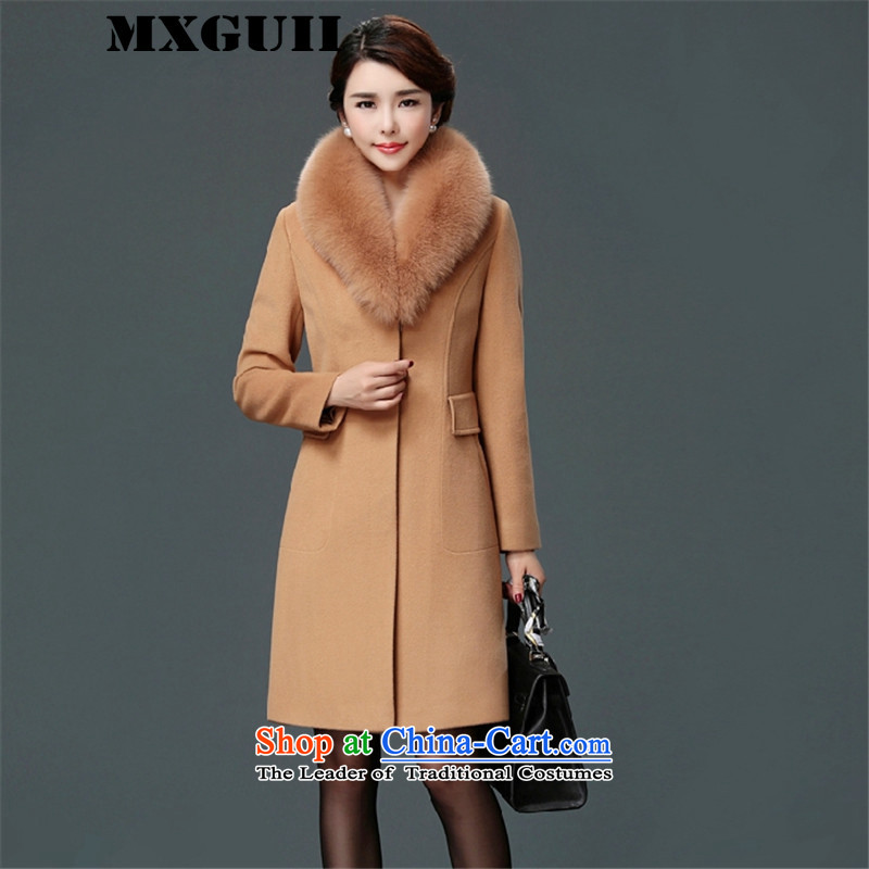 The new 2015 winter of MXGUII luxurious oversized Fox for Gross Gross?   in the female coats of gross and color jacket?燲L