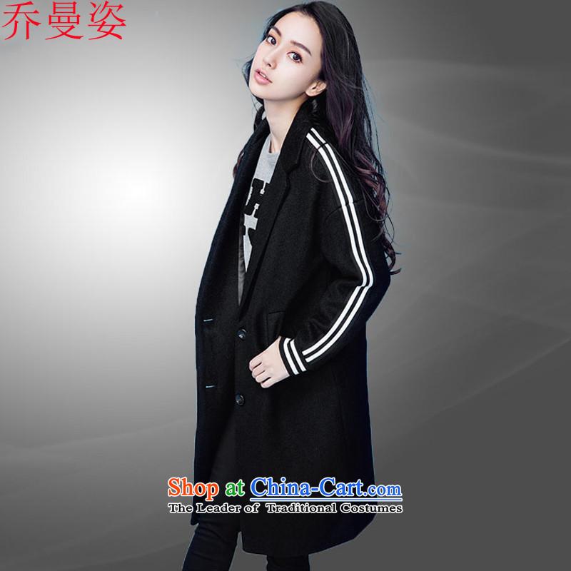Joe Cayman 2015 winter black hair beauty? coats Korean women's long thick hair? 3698th Sau San?165_88A black