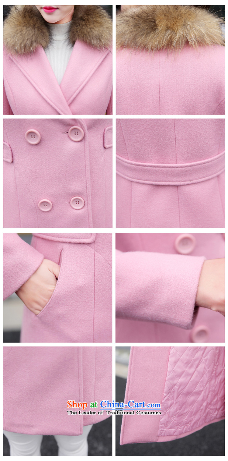 Gross girls coat? Long Korean Nuclear Sub for autumn and winter new gross for women gross?? coats of Sau San women jacket pink聽M picture, prices, brand platters! The elections are supplied in the national character of distribution, so action, buy now enjoy more preferential! As soon as possible.