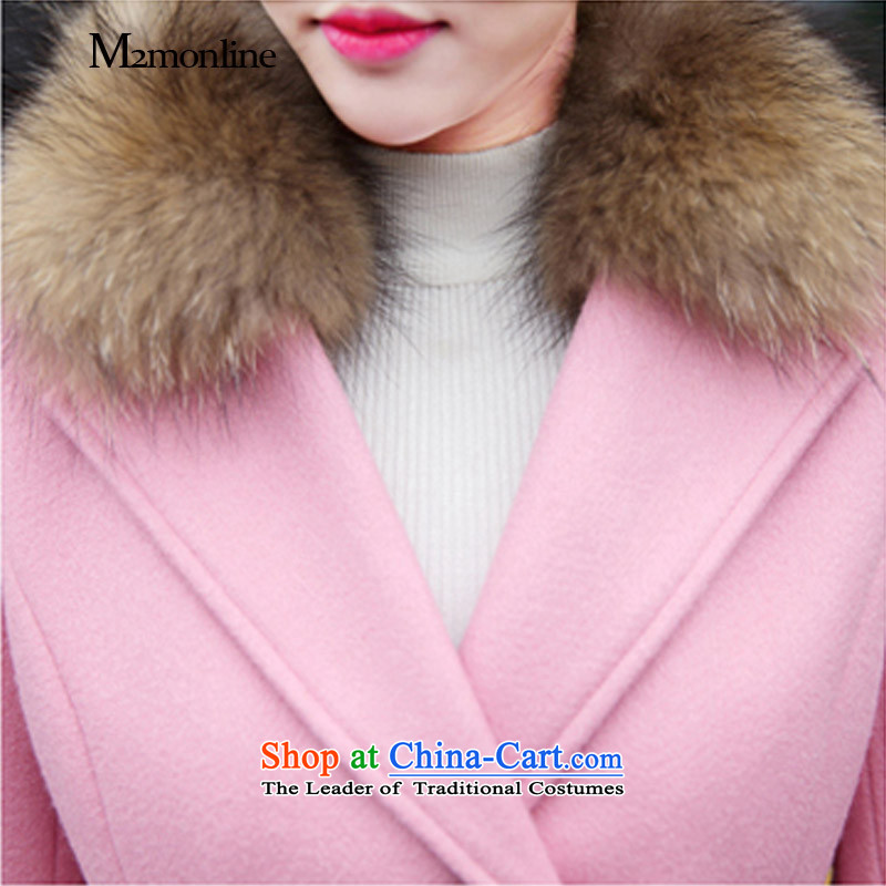 Gross girls coat? Long Korean Nuclear Sub for autumn and winter new gross for women gross?? coats of Sau San women jacket pink聽m,m2monline,,, shopping on the Internet