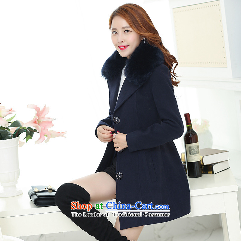 Statements were made by Lau new gross gross for the case? long coats of Sau San Connie sub navy XXL
