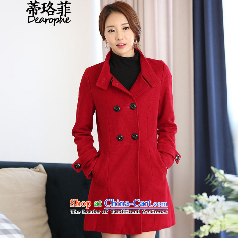 The Lhoba nationality, so gross Opertti coats female 2015 autumn and winter large female new Korean version of the long hair? jacket RED M