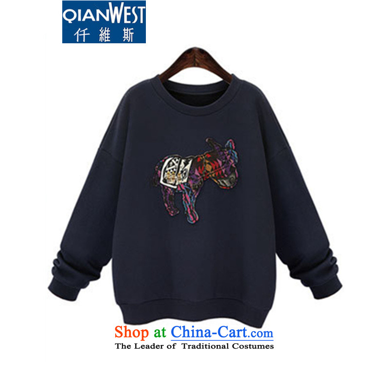 The Scarlet Letter, thick sister larger female plus extra thick wool sweater�15 Fall_Winter Collections new ponies plus lint-free sweater relaxd graphics thin hedge sweater 1.64 blue�L爎ecommended weight 140-160 characters catty