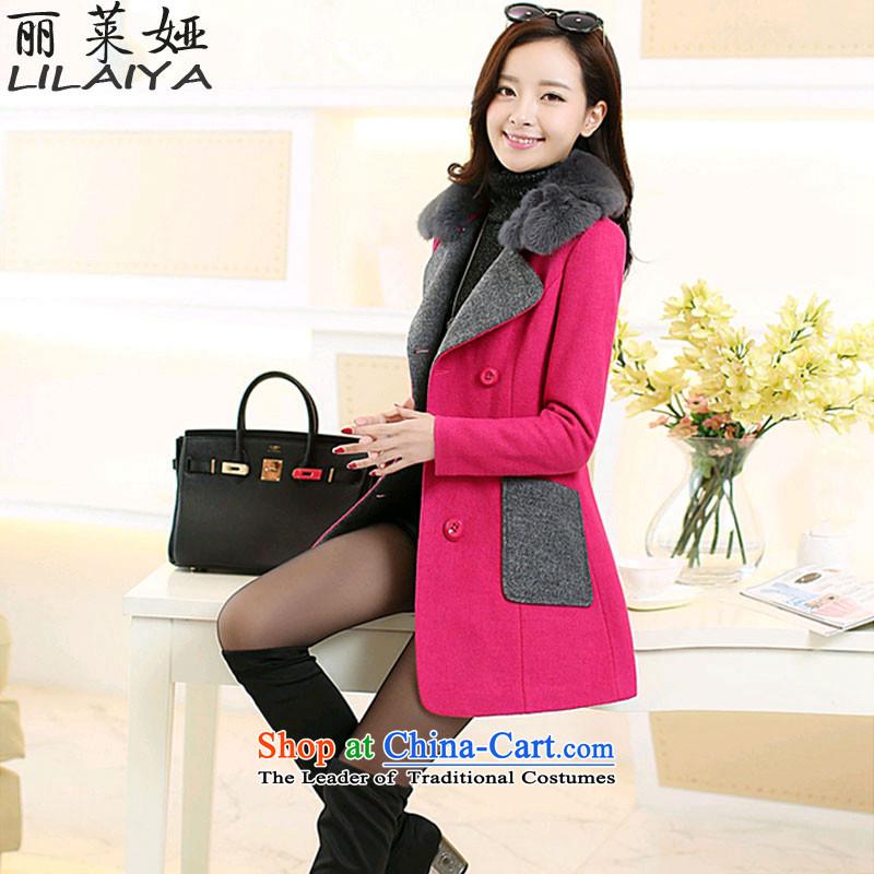 Polaroid Ah2015 winter clothing new women in Korean long hair Sau San? jacket female stylish thick warm jacket for the Gross GrossZ501 femalepink?XL