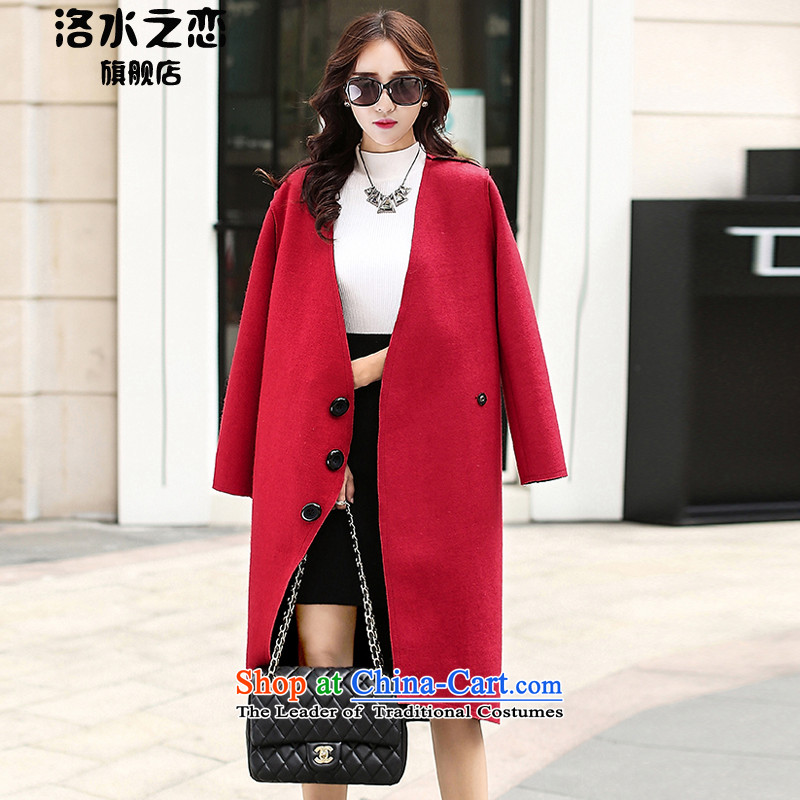 The water of the gross coats female 2015 Autumn? for women of autumn and winter stylish big Korean long thin video   Gross female gray jacket?燲L