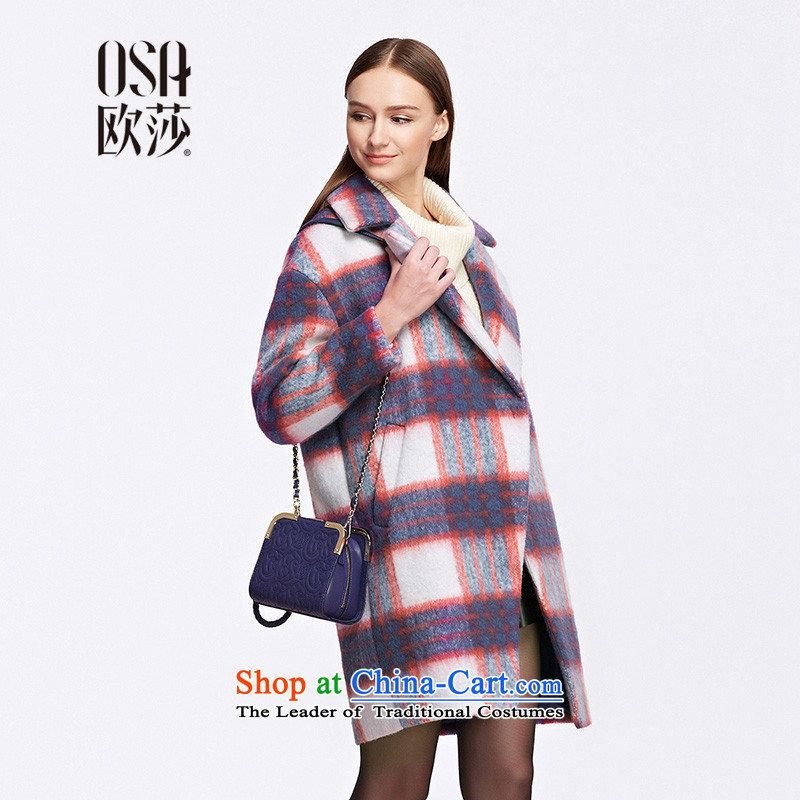 The OSA EURO 2015 Winter New Windsor female knocked color plaid suits for knots SD523006 gross? jacket orangeL