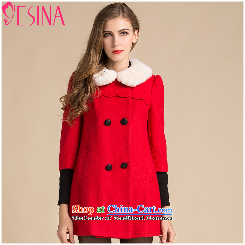 Hundreds of xin 2015 winter clothing new coats in gross for long coats a thicker double-Women's temperament Sau San RedXL