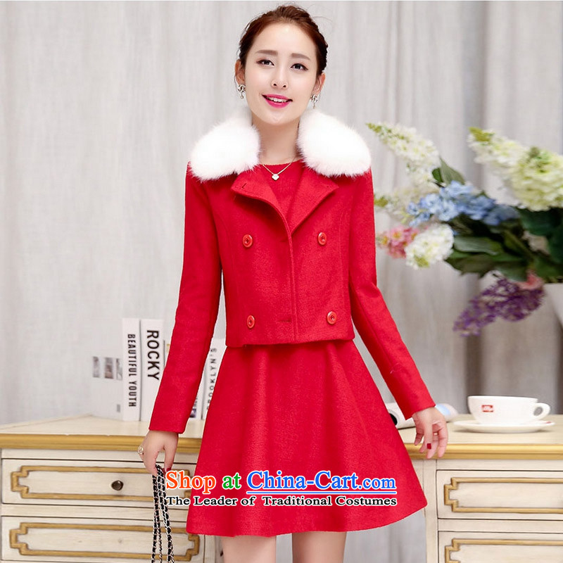 Recalling that the autumn and winter poems angel new Korean short hair?) small jacket to obtain 993 Nagymaros WX RED  M