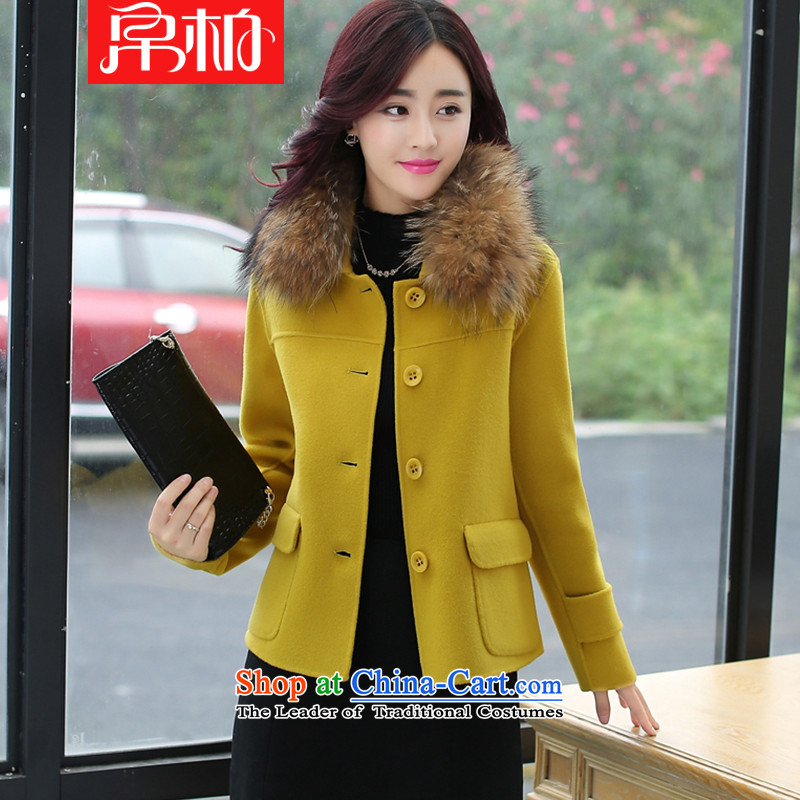 2015 Fall_Winter Collections new Korean women's gross so Sau San Jacket coat shirt short of the amount for a wool coat grass WONG聽L