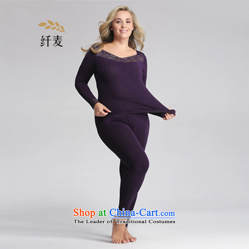 In the former Yugoslavia is indeed intensify code mecca thermal underwear kit fat mm lace female autumn Yi Chau trousers,?553092021 thin?black?4XL