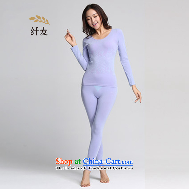 The former Yugoslavia Migdal Code women thermal underwear kit fat mm thick sister jacquard body autumn Yi Chau trousers�3092499爈ight violet 130-190 catty to pass through