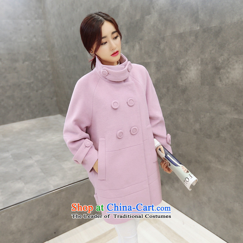 Sin has winter clothing 2015 new Korean fashion coats that long double-liberal cocoon-gross flows of female jacket? Picture Color� S