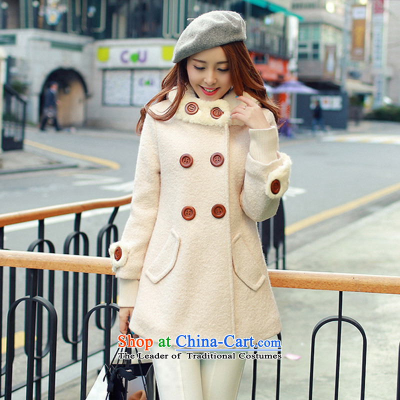 In the�15 Winter Olympics Yue on female jackets for larger video thin wool so Sau San Jacket coat female燱A燽eige燤