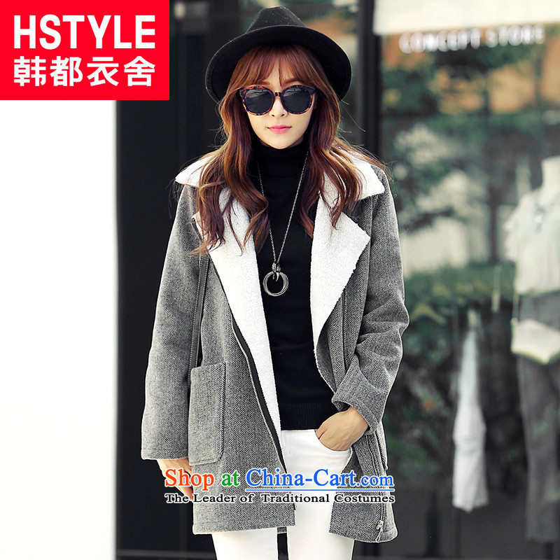 Korea has the Korean version of the Dag Hammarskj鰈d yi 2015 Autumn new carbon for women in the new trendy youth long long-sleeved jacket is     Gross DL4554 restaurant carbon燣
