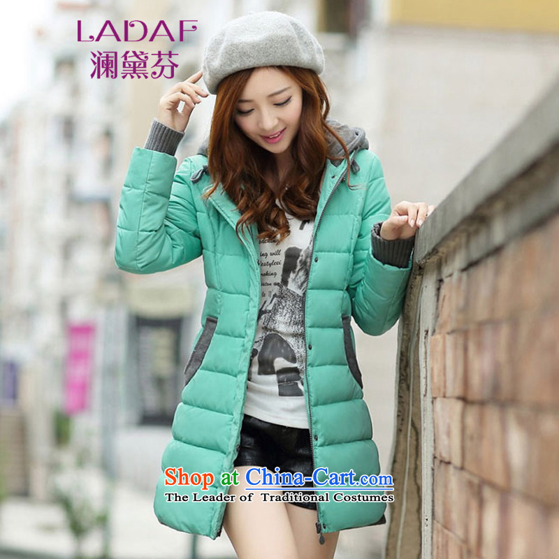 The World 2015 autumn and winter fun Doi new cap over the medium to longer term, Sau San thick cotton jacket 951 BLUE� XL