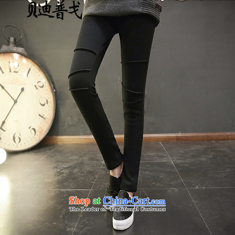 Brady pugo larger female winter clothing castor trousers, forming the thick wool pants and elastic tight video thin black trousers 7126 Pencil 4XL around 922.747 paragraphs 165-175 under