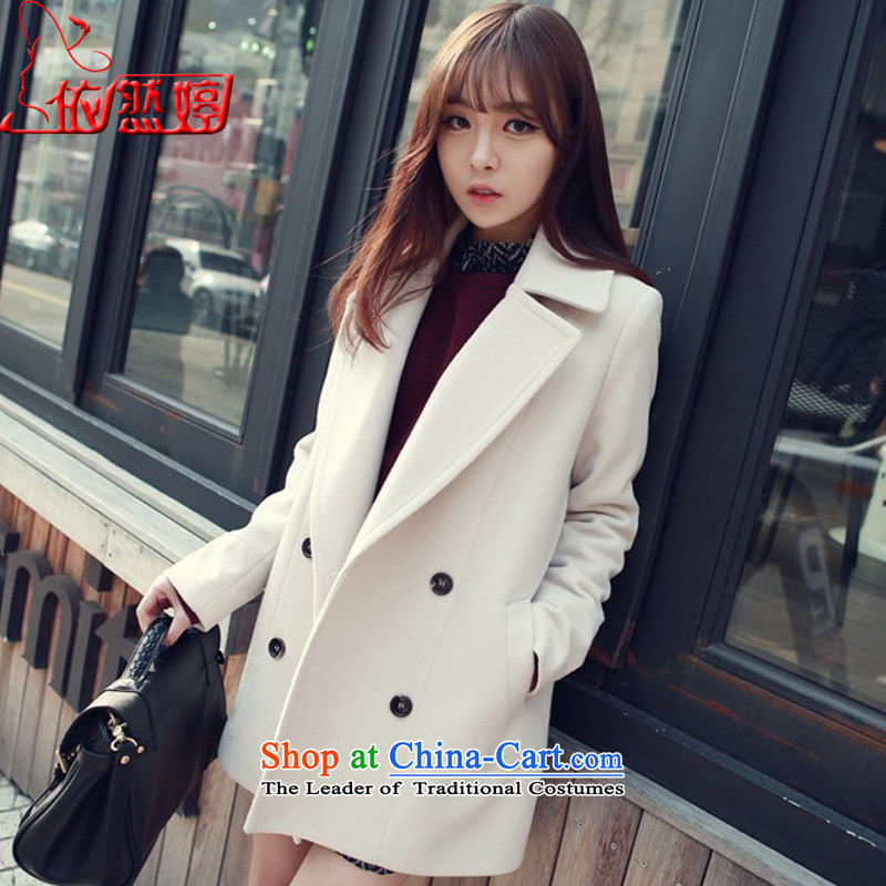 The autumn 2015_ still ting female body hair is decorated jacket female whiteL M 7727X