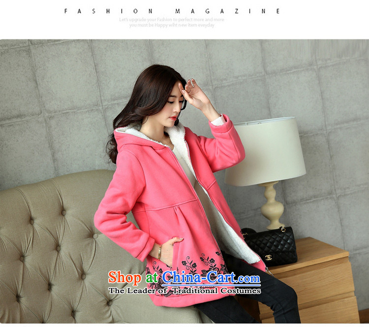 Adam Cheng Yi covered by the 2015 autumn and winter coats large new plus lint-free cotton waffle Korean pink XXXL 8816 picture, prices, brand platters! The elections are supplied in the national character of distribution, so action, buy now enjoy more preferential! As soon as possible.