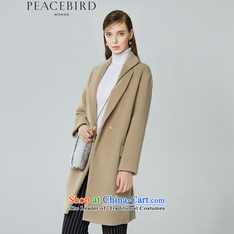 The elections on 26 November new products as women peacebird 2015 winter coats of new products fall shoulder and color A4AA54561燬