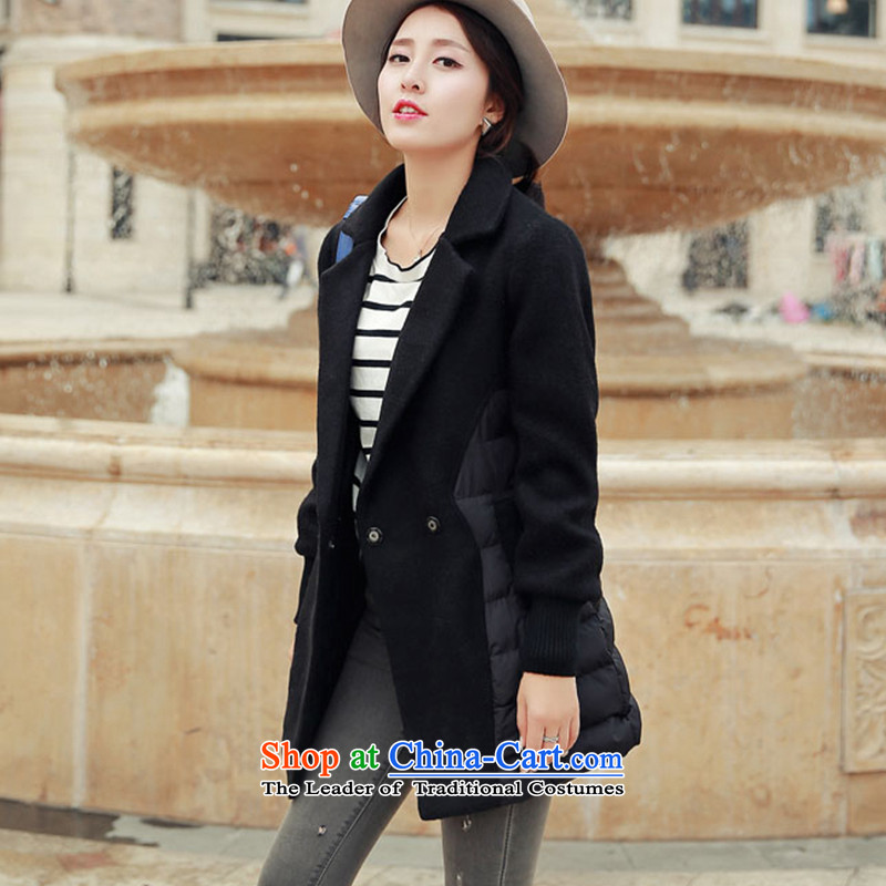 Wooden Geun-hye in long stitching cotton coat gross 336 red M/160(84a), coat? : Geun-hye has been pressed shopping on the Internet