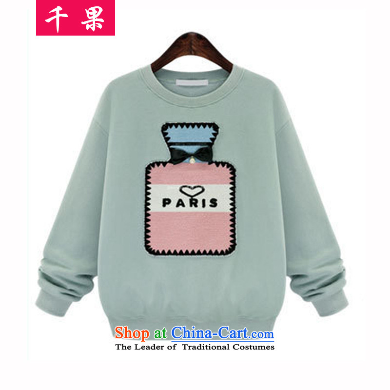Thousands of people's congresses thick code plus fruit lint-free sweater female thick mm 200 catties winter to increase women's thick winter kit head sister loose coat 6296 MINTCREAM 5XL Jacket