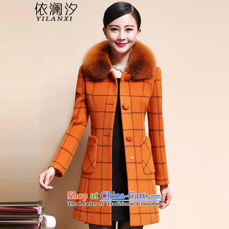According to the world the new style of desingnhotels 2015 children for Gross Gross girls jacket? long hair? 8888 ORANGE�L