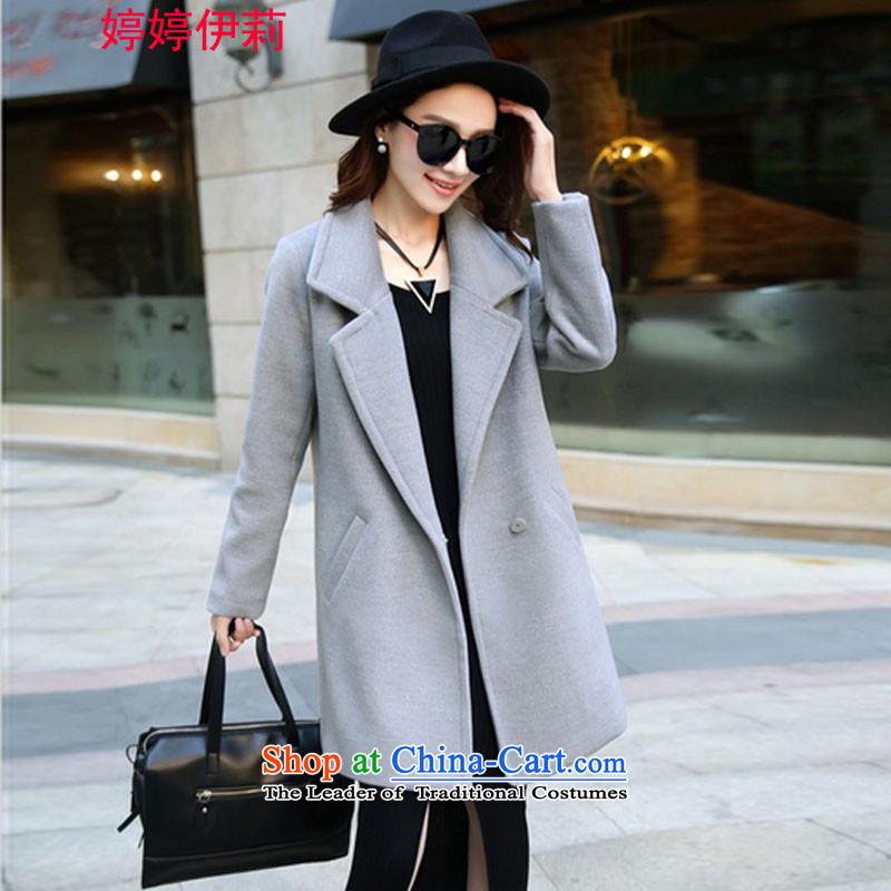 Ms Rebecca Pun, the Reine gross? for winter coats women 2015 new Korean version in long hair Sau San? 9852 female gray jacketXXL