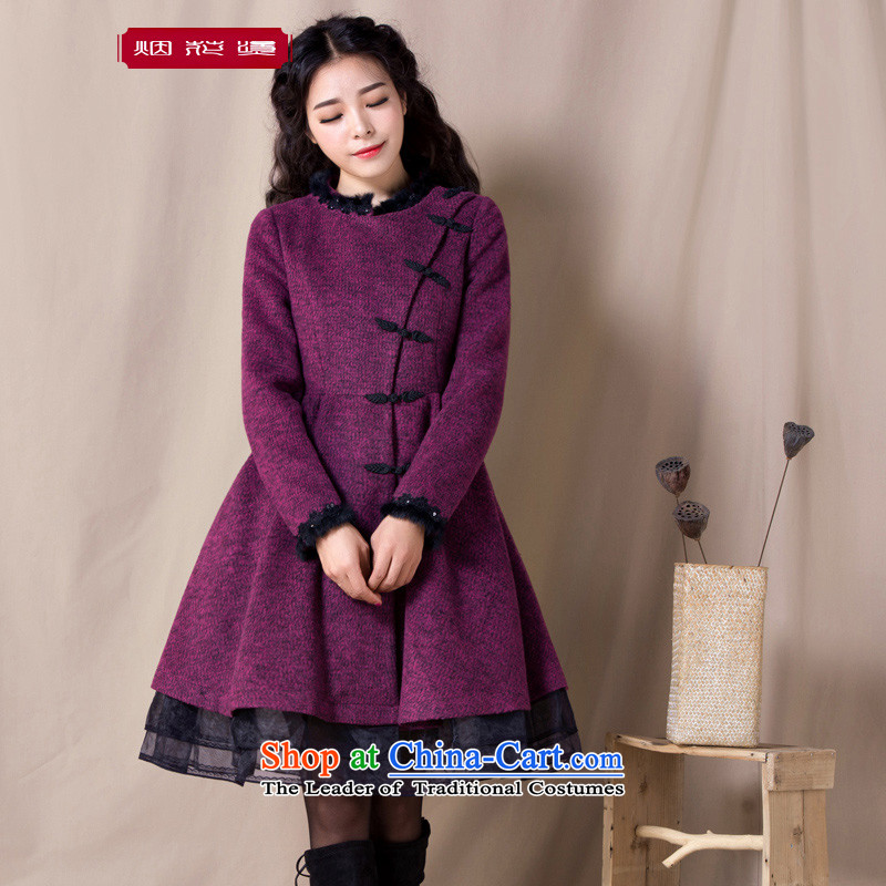 Fireworks Hot Winter 2015 new women's retro look A version with Sau San-jacket coat language? gross fai be red ZOSHIKIL pre-sale 15 Days