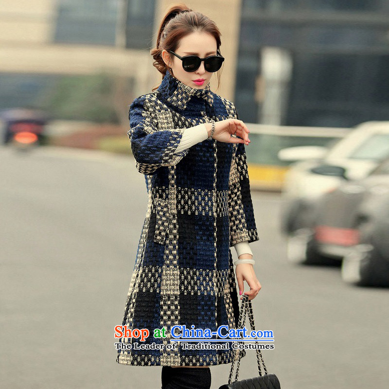 Arthur magic yi 2015 autumn and winter new Korean version of Sau San Mao coats of ladies? 7/rough spend a jacket female hair fall gray M