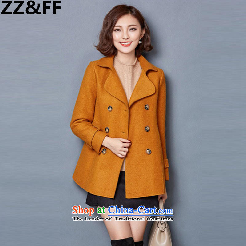 2015 Autumn and winter Zz_ff new stylish decorated Korean girl who video thin thick hair? overcoat�86�-燣