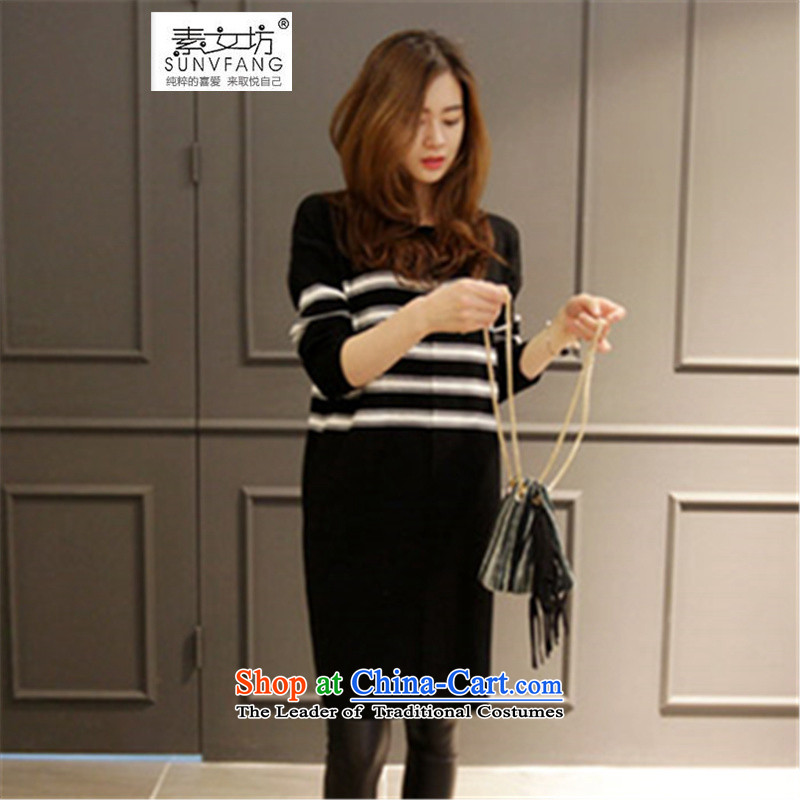 Motome workshop for larger women 2015 to increase the number in the autumn and winter long Leisure dresses thick mm stretch knitted sweaters forming the picture color�L skirt US_ 52.65爌roposed weight 140-160 characters catty