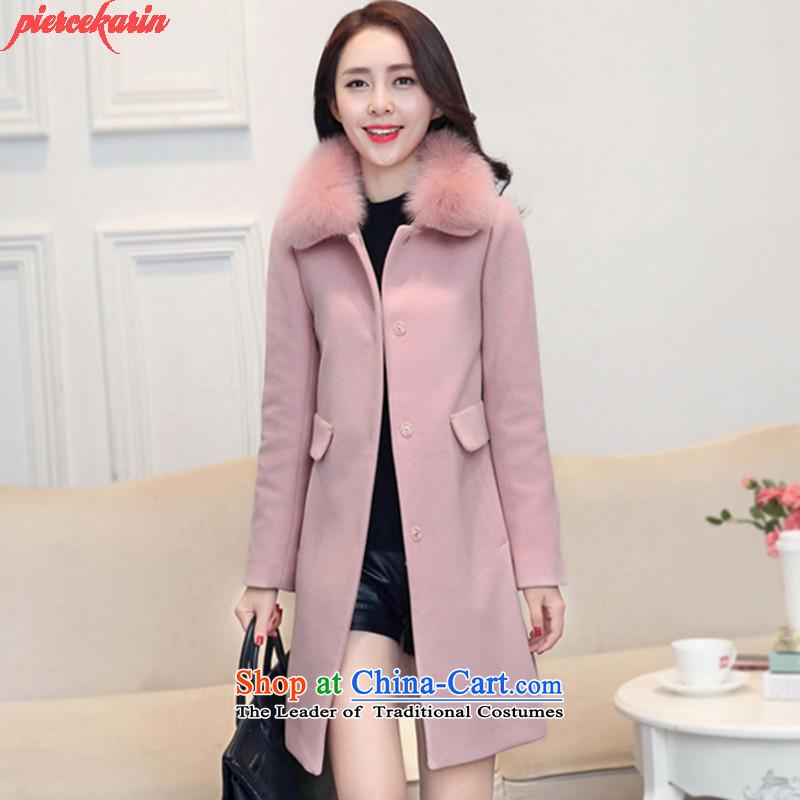 Pierce Carleen 2015 winter new warm jacket coat female 930 gross? pink燤