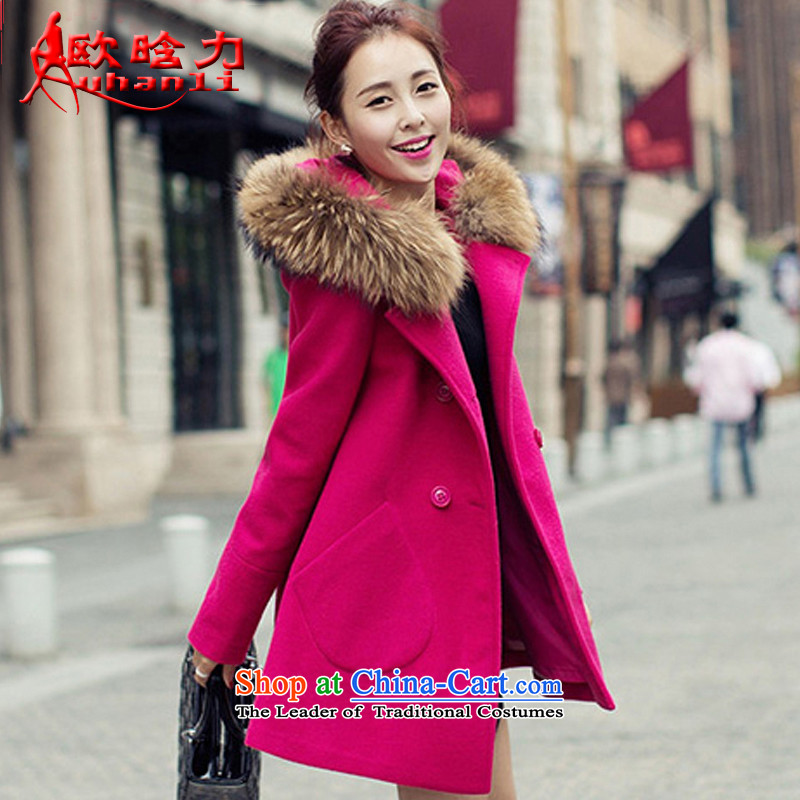 The OSCE detailed power? jacket women 2015 gross fall for women for winter new Korean version in Sau San long coats_? female Doyici 226B of red L