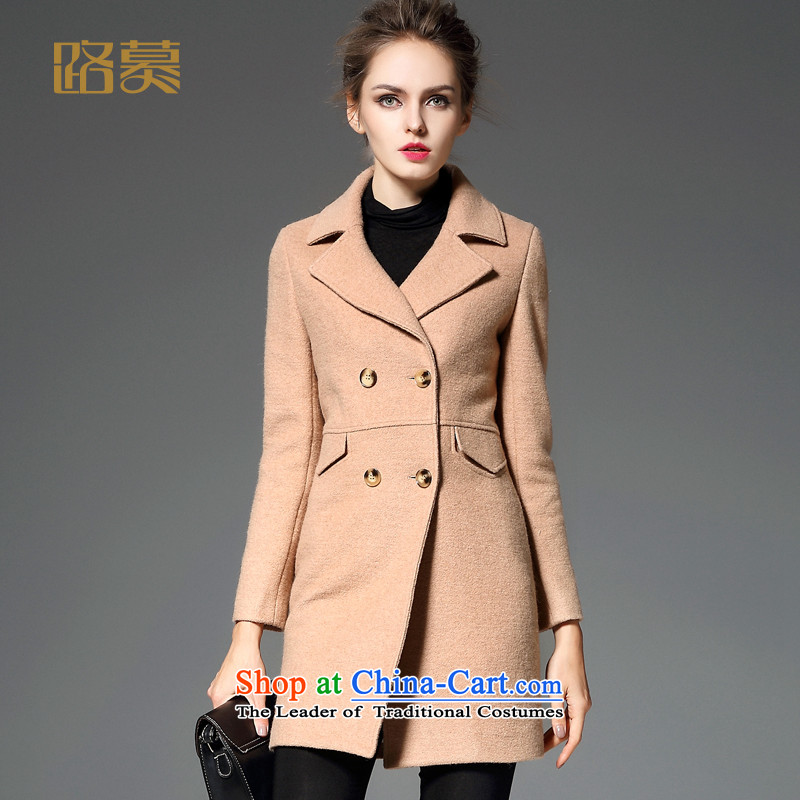 The 2015 Winter road new women's gross?' Women's jacket in long wool coat is     temperament and colorXL