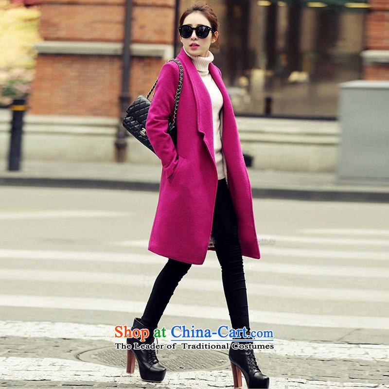 Leung Sze recalls that the�15 New Korean in Sau San long large a wool coat�01營N RED燤 WX