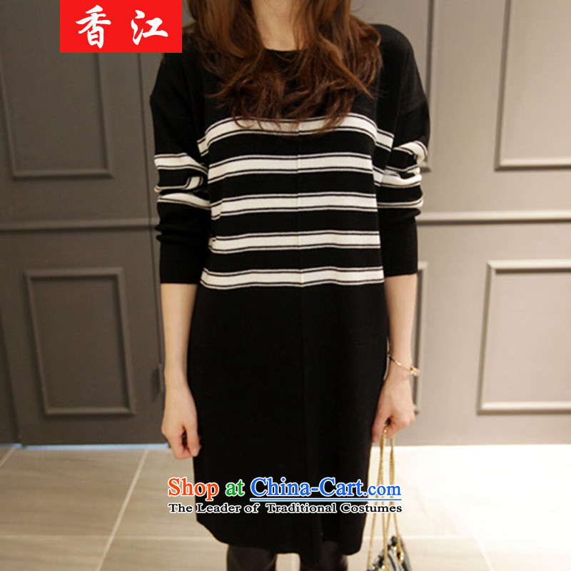 Xiang Jiang 2015 large female autumn and winter new to increase the burden of Knitted Shirt sweater 200 thick sister dresses long shirts, forming the Netherlands picture color large code causing 546.5 5XL, Xiangjiang , , , shopping on the Internet