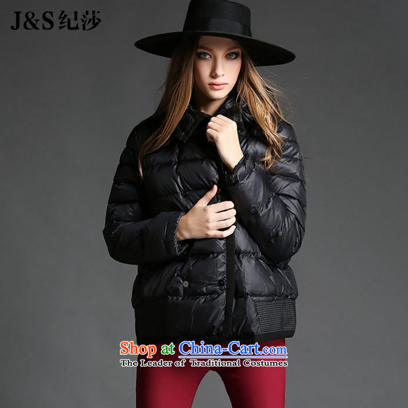 Elizabeth Western thick sister discipline to increase women's code 2015 autumn and winter new mm thick cotton clothing_ Women's short jacket cotton coatZR2175- black4XL