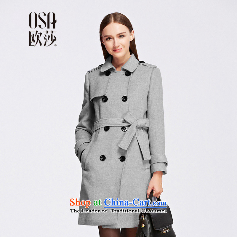 The OSA EURO 2015 Winter New Windsor female England wind, double-pure color jacket SD556009? Spend gross gray?M