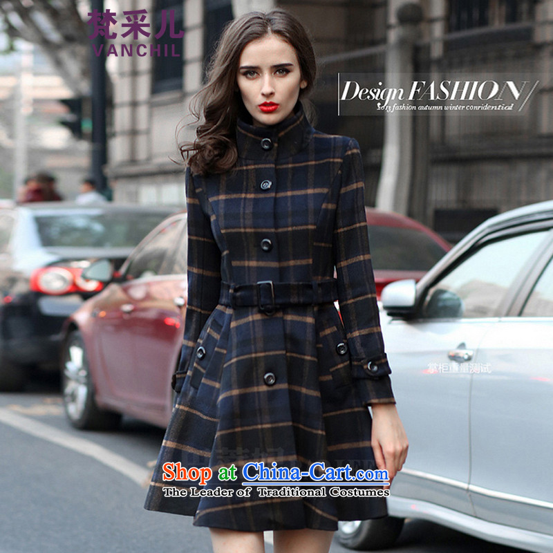 In accordance with the World Hsichih Fall_Winter Collections English style sub gross girls jacket? Long Large Sau San Foutune of skirt as a wool coat 2113 picture color. XL