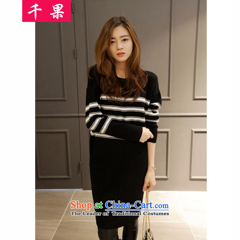 The results of the 2015 to increase the number of women in the autumn and winter long Leisure Centers mm stretch knitted sweaters wild streaks, forming the thin shirt video picture color 5XL US_ 52.65